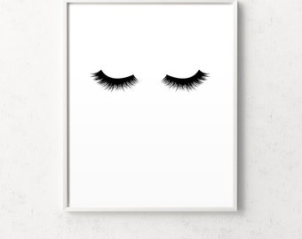 Lashes print, black lashes, lash, lashes poster, eyelashes, lashes, lashes wall art, lash art, black lash, printable lashes, lashes download