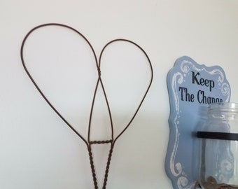 Antique Primitive Heart Shaped Rug Beater