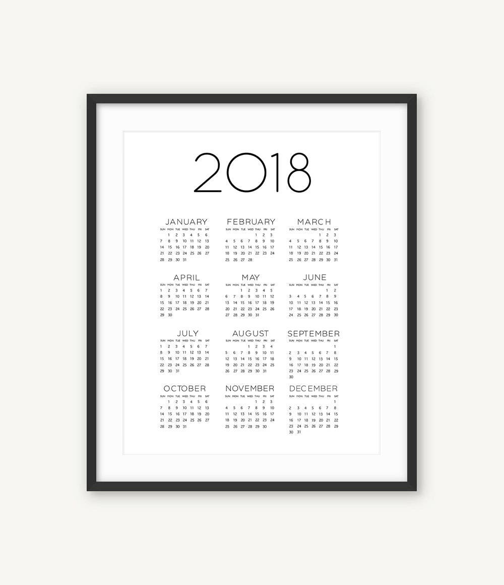 Calendrier 2018 calendrier imprimable calendrier mural for Mural en francais