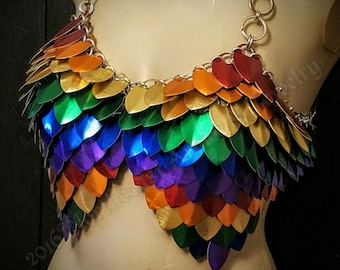 Custom Made  Chain and Scale Mail Rainbow Dash Cosplay Armor
