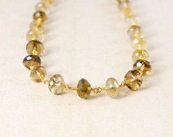 Beaded Smokey Quartz Necklace – Choose Your Length