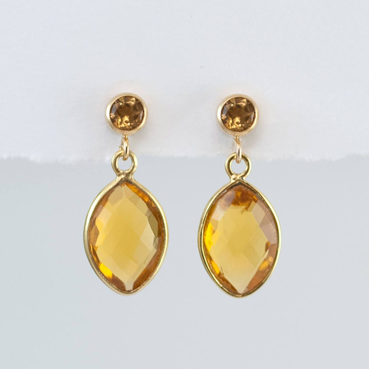 hoop s earrings pave image earring yellow diamond kt citrine itm is loading amp w gold charms dangle
