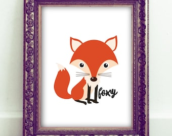 Fox Wall Art, Fox Printable, Fox Art Print, Nursery Wall Art, Foxy Wall Art, Fox Decor, Nursery Decor, Red Fox, Fox Gift, Fox Nursery