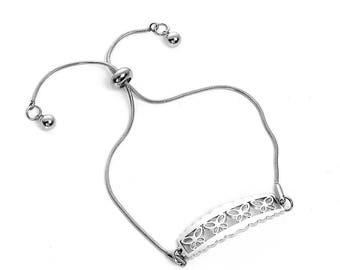 Stainless steel bracelet * Butterfly Silver