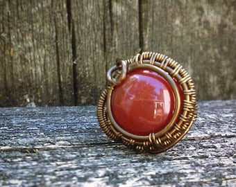 Red (blood) Agate Ring Size 8