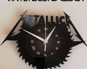 METALLICA BaNd MUSIC 12 inch / 30 cm CLOCK gift for kids Rock music band gifts for boys Vinyl wall clock gifts for men