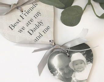 Personalised Photo Daddy/Dad Keepsake Heart Plaque Gift P194B