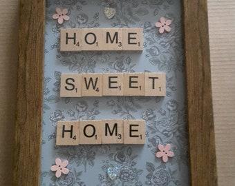Home Sweet Home Scrabble Art
