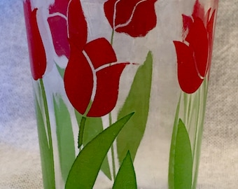 Red Tulip Juice Glass