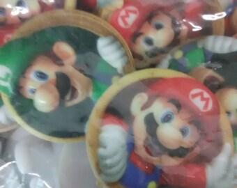 Mario and Luigi Cupcake Rings (24 count)
