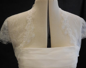 off white bridal wedding lace Bolero / off white bridal lace coat / off white bridal shrug off white bridal shoulder lace cover is for sale