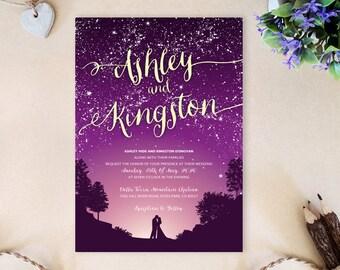 Starry Night Wedding Invitation Under the stars wedding