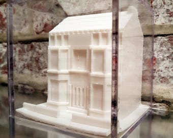 Glasgow Tenement 3D printed model, 3D printed Sculpture, Victorian Architecture Sculpture, Minature Glasgow Tenement