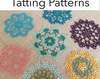 Tatting Pattern - Tatted Coasters Pattern Pack - Instant Digital Download - PDF