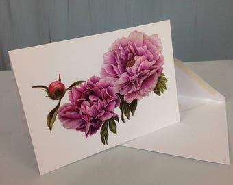 Greeting Card Peony