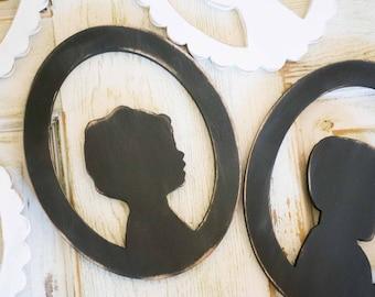 Wooden Child Silhouette Keepsake, Custom Child Profile Art, Gift, Kid Silhouette, Nursery Decor, Custom Portrait