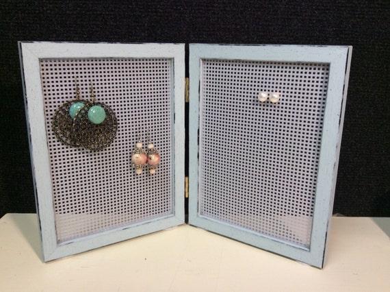 Jewellery organizer earring frame earring storage stud