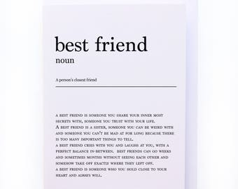 A special message to your best friend - Greeting card
