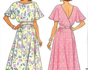 89cd7dcfc7 Butterick 5655 Misses Fast   Easy Back Wrap Dress Pattern