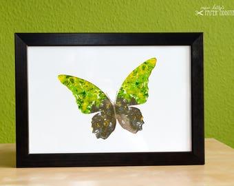 DIY-Wachs-Bügelbild »Schmetterling No. 1«