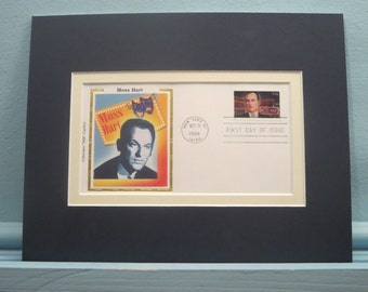 Broadway Playwright - Moss Hart & First Day Cover of his own stamp
