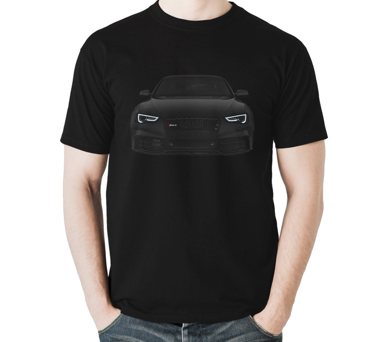 audi rs5 t shirt a5 s5 black mens gift idea 100 cotton. Black Bedroom Furniture Sets. Home Design Ideas