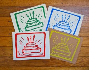 Birthday Cake Cards Set of Four