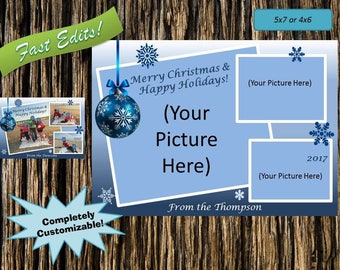 Blue Ornament Holiday Card!