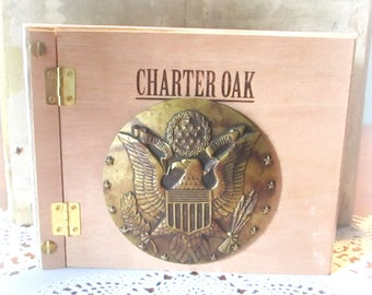 Refillable Journal, Cigar Box Journal, Day Planner, Travel Diary, Sketch Book, Doodle Book, Charter Oak Cigar Box Item #869