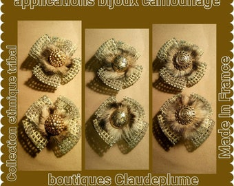 6 golden flowers jewelry camouflage applications