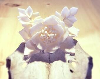 Felt Flower Barrette