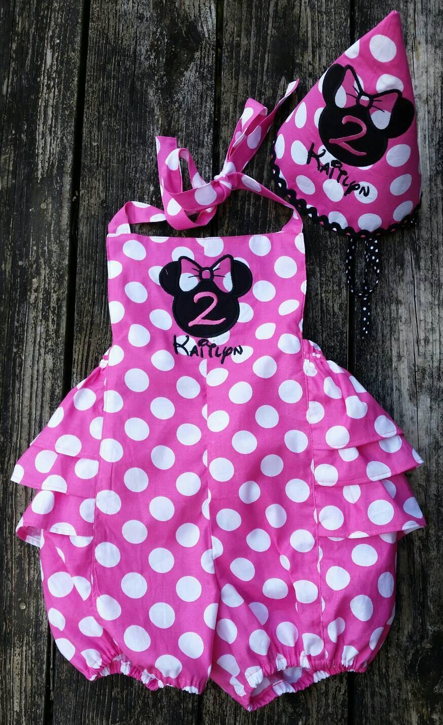 Minnie Maus Strampler / Disney outfit / Blase Strampler / 1.