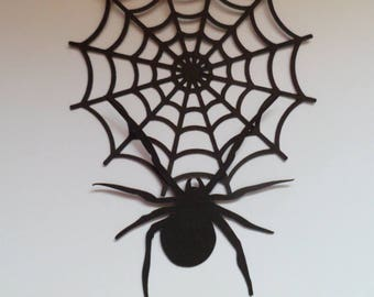 Die Cut Halloween Spider and Web x 10 (5 of each)
