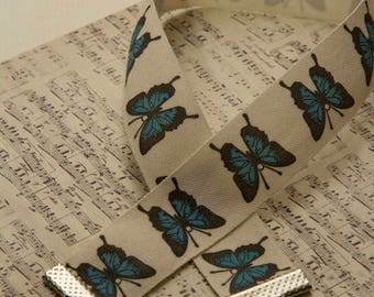 Blue butterfly vintage inspired choker/collar