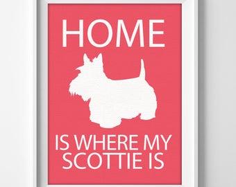 "Scottish Terrier ""Scottie Dog"" Personalized Pet Memorial Art Print"