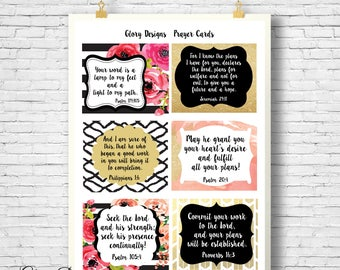Prayer Cards, Scripture cards, Bible verse, Card set, Unique gift for women, printable cards,  Printable Prayer Cards, Daily Prayer