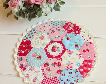 a most lovely large hexie patchwork doily no. 4