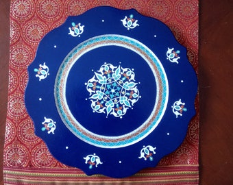Navy Blue decorative plate