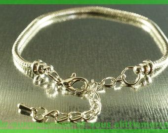 No. 22 19 cm charms silver plated European Bead Bracelet