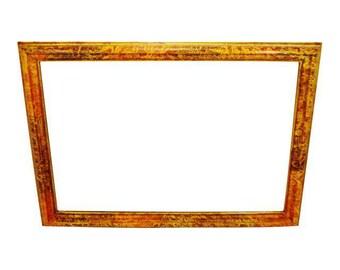 Vintage Large Framed Mirror 65 x 46