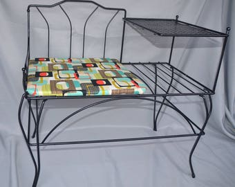 Eb1601 Telephone Table Gossip Bench *LOCAL PICKUP ONLY   Minnesota* Iconic  1950u0027s 1960u0027s Vintage