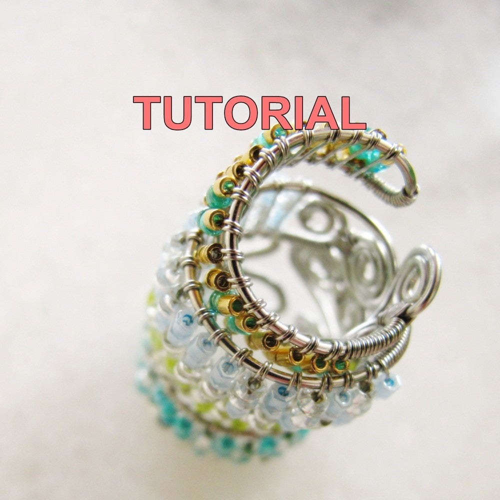 WIRE JEWELRY Tutorial Adjustable Wire Wrapped Ring Seed