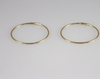 14K solid gold 22mm hoop,14K gold hoop Earrings, 14K minimalist earrings, 14K gold simple earring,14K everyday earrings, 14k solid gold hoop