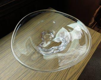 Vintage Orrefors Large Heavy Sweden Swedish Art Glass Bowl 3516-211