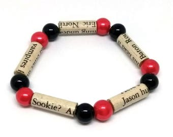 True Blood Paper Bead Bracelet