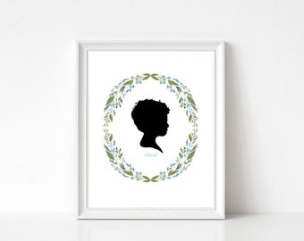 Custom Silhouette, Child Silhouette, Silhouette, Children Silhouette, Silhouette Portrait, Custom Portrait, Personalized Silhouette