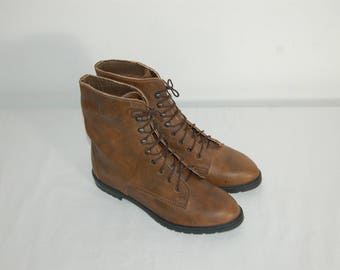 Women Size 5 1/2 Footnotes NEW Vintage Cute Brown 80s Ankle Boots