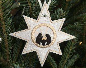 Nativity Ornament, Baby Jesus, Religious Ornament