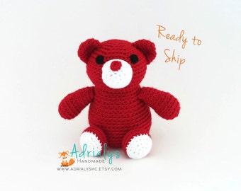 Clearance- Crochet Bear- Stuffed Bear- Woodland Nursery- Woodland Animals- Forest Animals- Handmade Bear- Crochet Toy- Ready to Ship