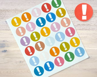 30 Sticker Planner Journaling Exclamation Mart